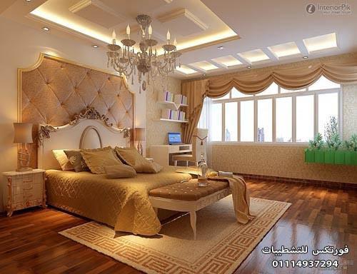 ديكورات جبس غرف النوم (7)
