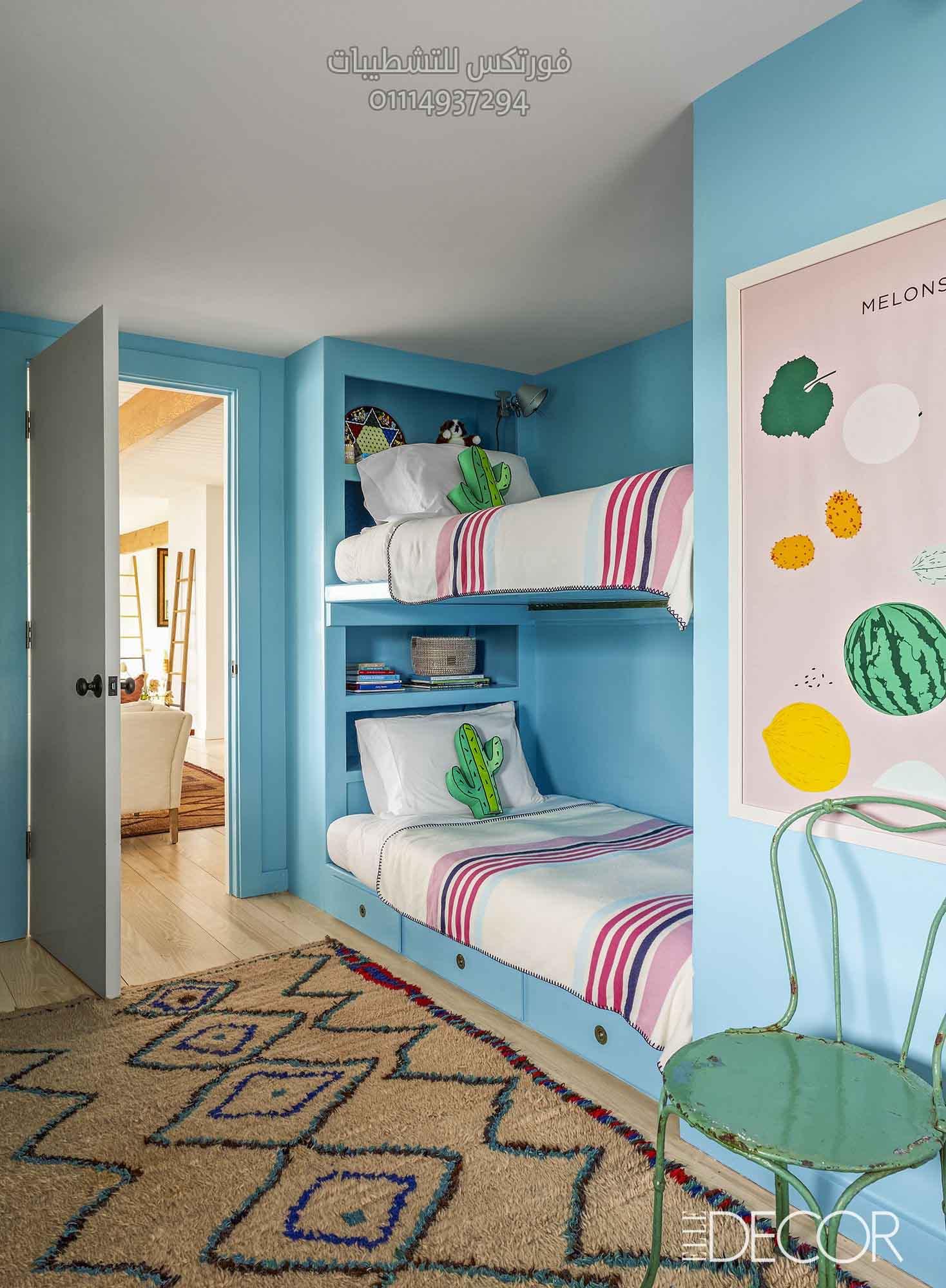 تصميمات وأفكار غرف نوم أطفال (5)