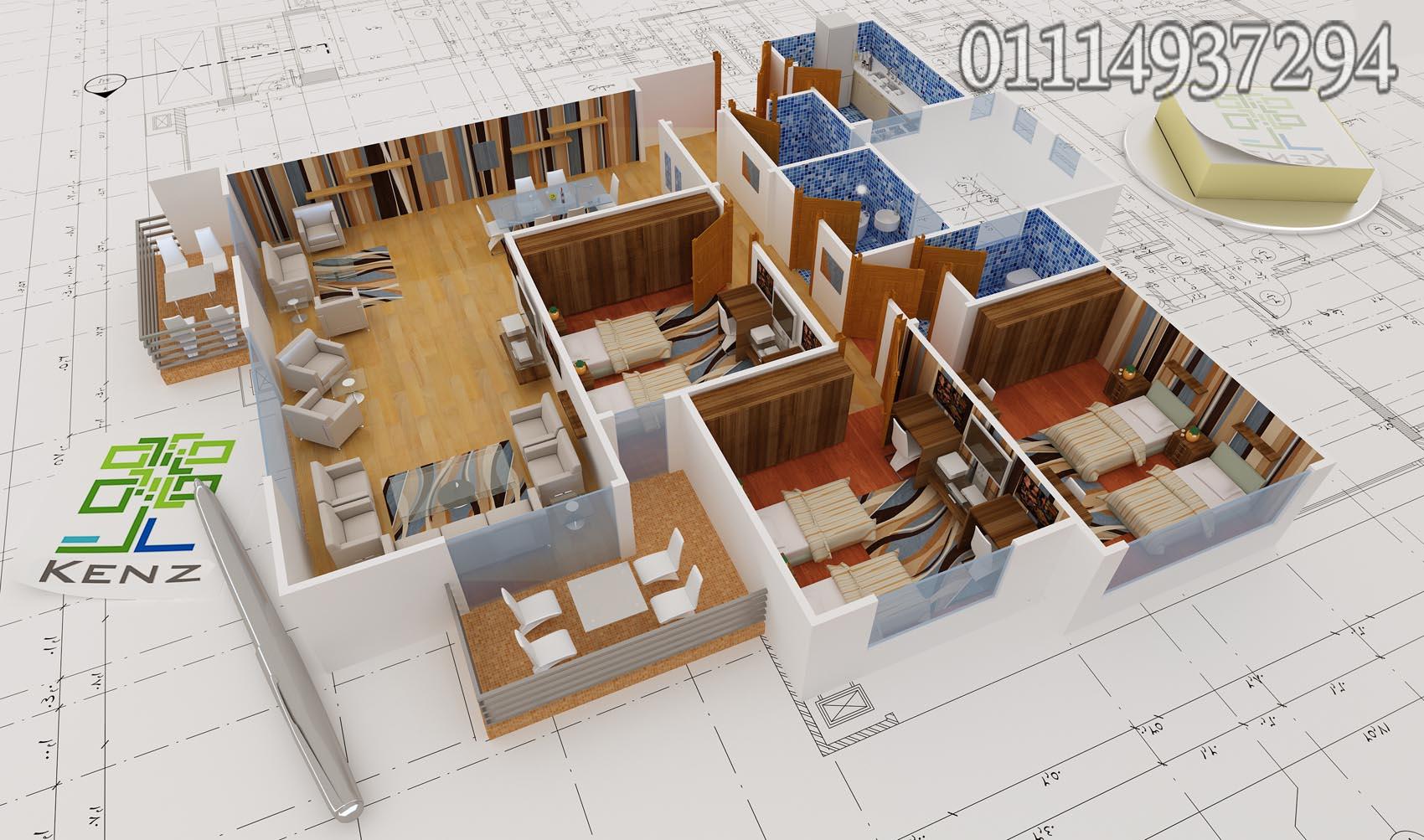 شقة 184 متر دور علوى متكرر كمبوند كنز حدائق 6 اكتوبر